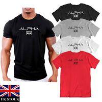 MENS  ALPHA UK  FLAG  GYM ATHLETIC   GYM T SHIRT TOP TRAINING MMA UFC
