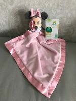 NEW Official Disney Store Minnie Mouse pink Comforter Soother Blankie Dou