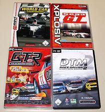4 RACING GIOCHI PER PC-SEGA GT GTR FIA DTM 2 Race Driver world car simulazione