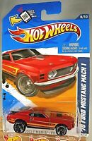2012 Hot Wheels #118 Muscle Mania-Ford '70 FORD MUSTANG MACH 1 Red Variant wMC5s