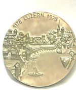 SWITZERLAND 1978 ** RARE ** MEDAL . Cityview of Lucern Canton
