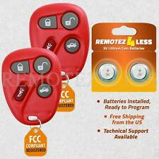 2 For 2001 2002 2003 2004 2005 Chevrolet Monte Carlo Keyless Remote Key Red
