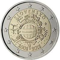 Slovacchia 2012 Ume Dixième Anniversaire Union Monétaire