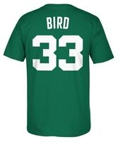 "Boston Celtics Men's #33 ""Bird"" Player T-Shirt NBA adidas Green"