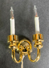 "Pair of Dual Candle Grand Wall Sconce 1:12, 1-1/2""H, Cir-Kit CKL4009"