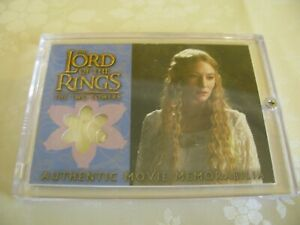 Lord of the Rings Two Towers Topps costume card Galadriel Silk Chiffon