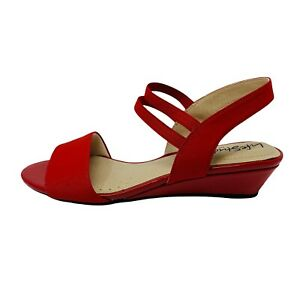 LifeStride Womans Red Yolo Peep Toe Casual Slingback Sandal Size 6.5 New
