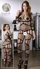Bodystocking aperta Tg Unica S-L Mandy Mystery Lingerie Intimo Sexy Shop 2550571