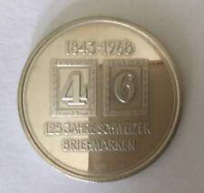 125 Jahre schweizer Briefmarken 1968  900 Silber