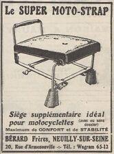 Y7713 Le Super Moto-Strap - Siége supplementaire - Pubblicità d'epoca - 1926 Ad