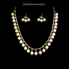 22KT GOLD SOUTH SEA PEARLS CHAIN & EARRING STUD WOMEN NECKLACE CHAIN CUSTOM SIZE