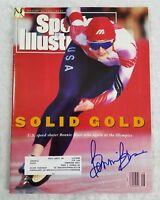 Bonnie Blair Autographed Signed Sports illustrated Vintage 1992 Magazine Auto