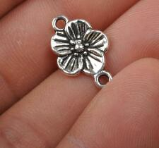 40pcsTibetan silver flowers charm Connectors Earring Findings Jewelry 18MM