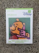 """Disney Home Pooh Piglet Latch Hook Kit 13"""" by 13"""" Caron Made in Usa 33cm x 33cm"""