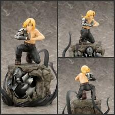 "Fullmetal Alchemist Edward Elric on Alphonse armor Pvc figure statue 8"" nobox"