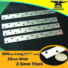 4 x METAL RESTRAINT STRAPS 300mm X 28mm X 2.5mm LIGHT DUTY FLAT BAR GALVANISED