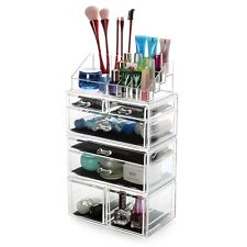 7 Drawer Clear Acrylic Makeup Jewlery Organizer Storage Drawer Display Holder
