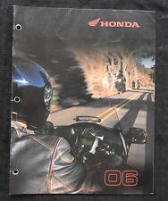2006 HONDA DEALER MOTORCYCLE APPAREL CLOTHING CATALOG GOLD WING VTX1800 SHADOW