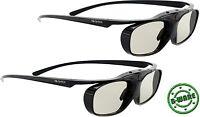 2x aktive 3D Brille Hi-SHOCK® RF Black Heaven für Sony Beamer VPL HW45 / 65 ES