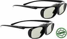2x aktive 3D Brille Hi-SHOCK® RF Black Heaven für Sony Beamer VPL HW45 / 65 ES