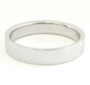 TIFFANY & Co. Platinum 4mm Essential Flat Band Ring 7.5 $1,700