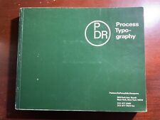 Process Typography Pastore DePamphilis Rampone Type Font Book Business Card 1985