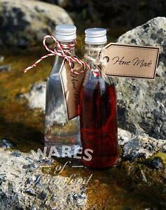 Mini Glass Bottles,50ml, Gold /Silver Caps, Packs:1-112, Wedding Favours ,New *