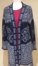 NEW with Tags Chico's black & white long cardigan size 3 acrylic, was $178.00