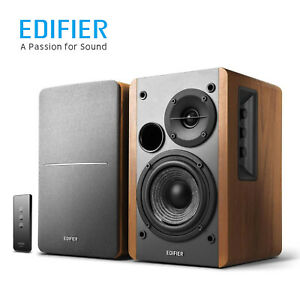 Edifier R1280T 2.0 Powered Bookshelf Speakers Bass Wireless Remote Dual RCA 42W