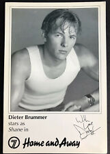 More details for dieter brummer *shane parrish* home and away pre-signed 1990s cast fan card rare