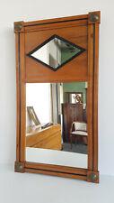 Biedermeier-Spiegel Kirschbaum partiell ebonisiert um 1840 H 97 cm