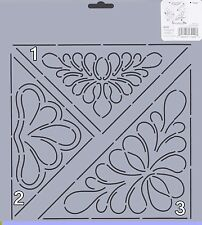 Quilting Stencil Template - Triangular Designs - Made in the US