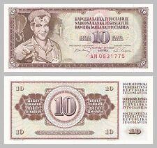 Jugoslawien / Yugoslavia 10 Dinara 1968 p82c unz.