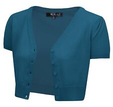 ShortSleeve Cropped Bolero CardiganSweater VintageInspired PinUp HB2137PL(1X-4X)