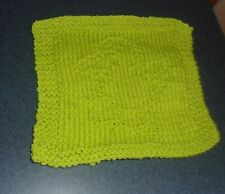 Brand New Hand Knit Green Baby Chick Chicken Dish Cloth For Dog Rescue Charity