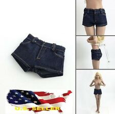 1/6 stretch Woman Denim Regular Shorts Jeans for Kumik Phicen Hot Toys ❶USA❶