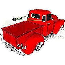 47-54 Chevy/GMC Truck Back Rear 3 Window Glass Gasket Rubber Seal w/ Chrome Trim