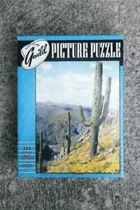 """VINTAGE WHITMAN GUILD 304 PC PICTURE PUZZLE """"WESTERN HILLSIDE"""" CACTUS TREES ~VGC"""