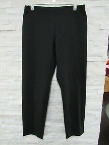 Eileen Fisher Black Heavyweight Rayon Stretch Ponte Knit Slim Leg Pants M