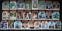 1986 Topps Houston Astros Team Set of 25 Baseball Cards Missing #57