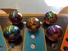 """FIVE 35mm 1 3/8""""  Meteor Boulder  marbles by Vacor (Mega Marbles)"""