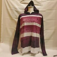 Hurley Buckle Premium Fit Hoodie Long Sleeve Triblend Striped T-Shirt Men's XL