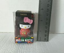 New Hello Kitty Collection Sakura Japanese Wooden Doll Keychain From Japan