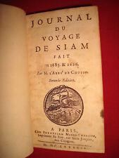 Journal de Voyage de SIAM fait en 1685 & 1686 par Abbé DE CHOISY 1687 MAROQUIN