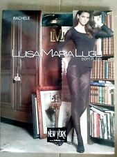Luisa Maria Lugli Rachele Rhombus Design Micro Tights Black Pantyhose Size S