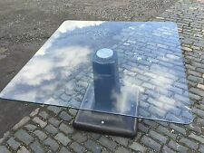 Glass Dining Table, Industrial Reclaimed Cast Iron, Upcycled Table, BESPOKE, NEW