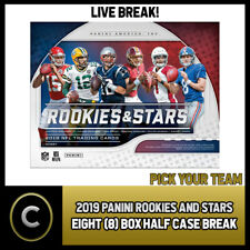2019 PANINI ROOKIE & STARS FOOTBALL 7 BOX HALF CASE BREAK #F496 - PICK YOUR TEAM