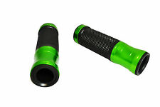 "Aluminium Motorbike Motorcycle Hand Grips Green for 22mm 7/8"" Handlebars - PAIR"