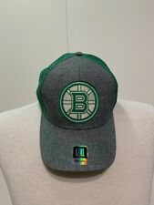 Reebok Boston Bruins L/XL Hat Gray Green Superflex New