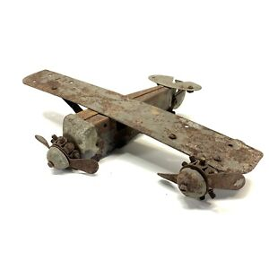 Antique Metalcraft Spirit Of St. Louis Tri-Motor Toy Airplane Lindbergh Model